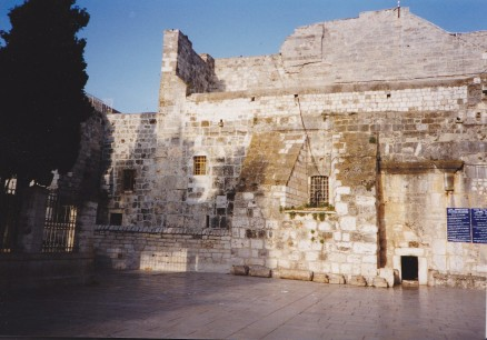 IMG_0014 - outside the Church of the Holy Sepulchre in Bethlehem, 1995