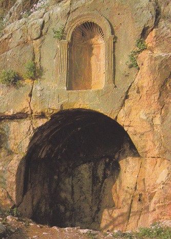 IMG_0035 - cave of Pan at Banyas (Caesarea Phillipi) - according to the gospels, Jesus's favourite esoteric retrteat location with his disciples ! 1995
