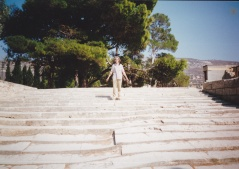 IMG_0051 - Thomas walking down the Sacred Way at Knosso, Crete, 1995