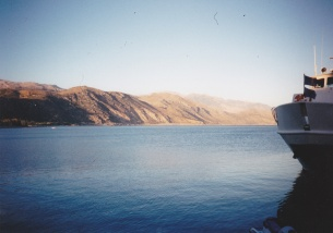 IMG_0052 - beautiful calm sea off Paleohora looking West, towards my camp site, 1995