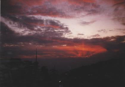 IMG_0058 - sunset over the Himlayas, Dharmasala, India, 1996